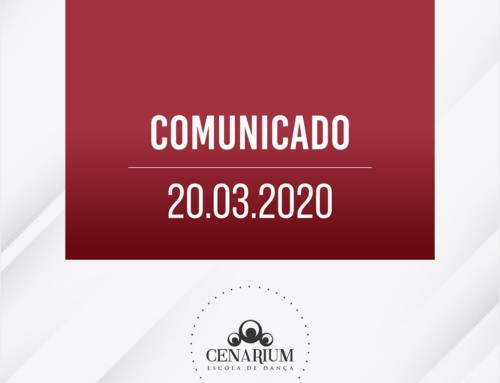 • Comunicado 20.03.2020 •