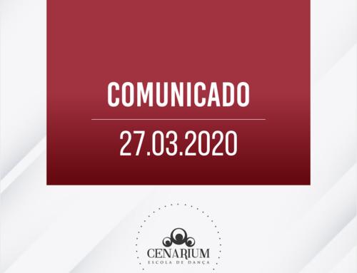 • Comunicado 27.03.2020 •